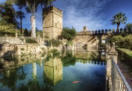 Detalle de los jardines interiores del Alcázar, antiguas huertas del Rey