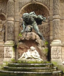 Polifemos, y Galatea en brazos de Acis, Fuente en Luxemburgo