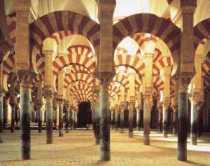 El bosque de columnas cambia la perspectiva a cada paso que damos.