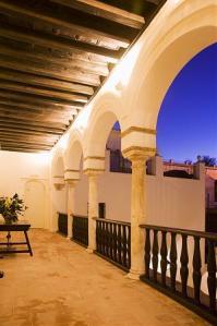 Detalle del interior del Palacio de las Pavas, hoy hotel en Córdoba