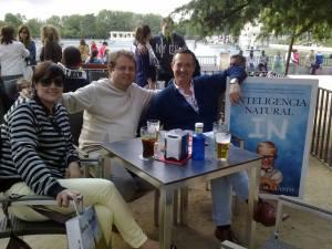 Con Alejandra Rodríguez y Luis de Vicente, ¡qué buen rato!