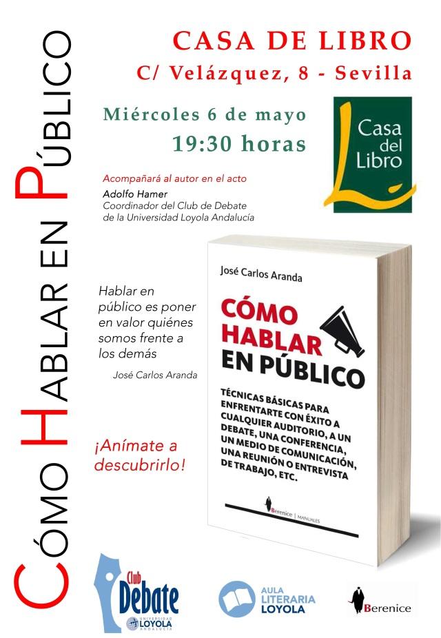 Cartel presentación libro Sevilla