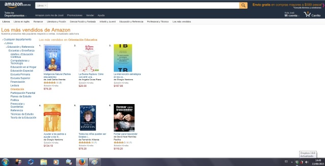 IN Nº 1 Amazon Mx libros Orientación educativa