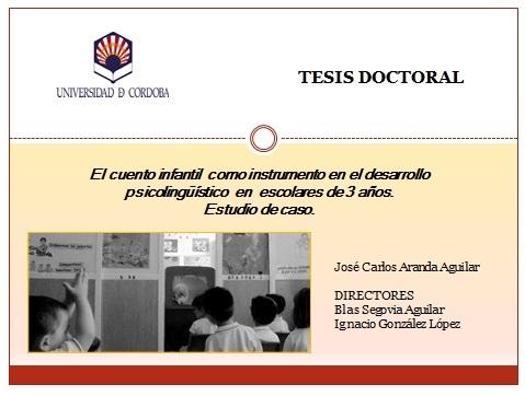 TESIS DOCTORAL: El cuento en Educación Infantil en el desarrollo ...